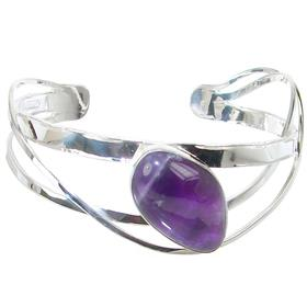 Amethyst Sterling Silver Bracelet Bangle