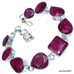 Royal Ruby Sterling Silver Bracelet