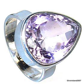 Amethyst Sterling Silver Ring size N 1/2