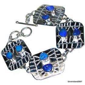 Rare! Fire Opal Sterling Silver Bracelet