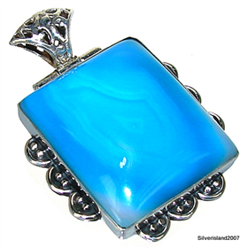 Botswana Agate Sterling Silver Pendant