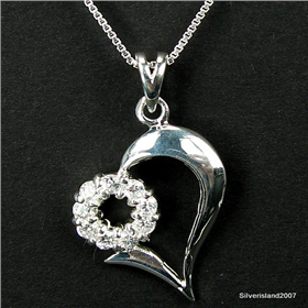 Finest Quality Cubic Zirconia Sterling Silver Pendant