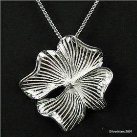 Elegant Solid Plain Sterling Silver Pendant