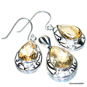 Stunning Citrine Sterling Silver Set