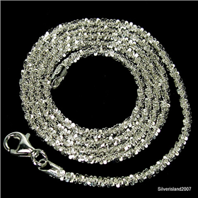 9d79ac8013ebf0 Stunning Twisted Roc Sterling Silver Chain 18 inches long 20/22/W - Silver  Island UK
