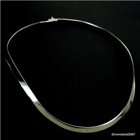Torc collar Sterling Silver Necklace Jewellery