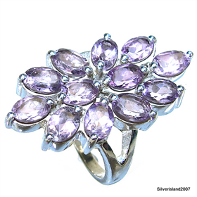 Royal Amethyst Sterling Silver Ring size O