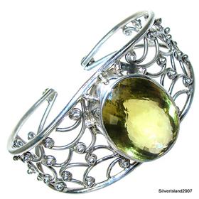 Wonderful Citrine Sterling Silver Bracelet size free