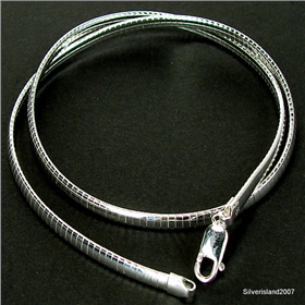 Flat Snake Sterling Silver Chain 16 inches long