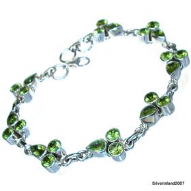 Royal Peridot Sterling Silver Bracelet Jewellery