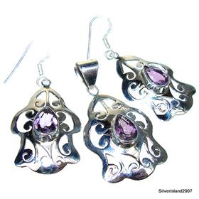 Royal Amethyst Sterling Silver Set