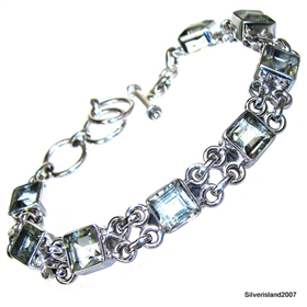 Incredible Green Amethyst Sterling Silver Bracelet Jewellery