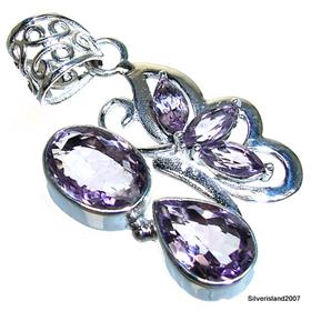 Royal Amethyst  Sterling Silver Pendant