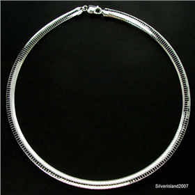 Omega Sterling Sterling Silver Chain 16 inches long