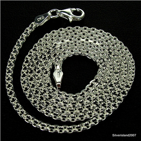 Van Sterling Silver Chain 18 inches long