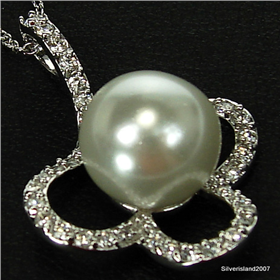 Fantastic Freshwater Pearl Sterling Silver Necklace 18 inches long