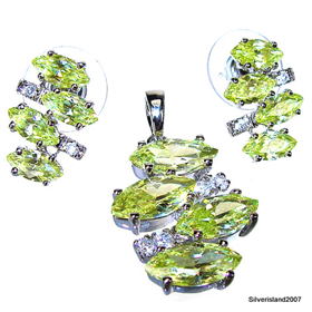 Gallant Spring Peridot Sterling Silver Set