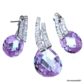 Heavenly Royal Amethyst Sterling Silver Set