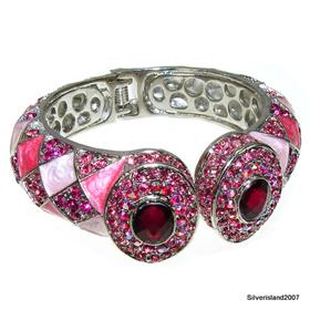 Massive Pink Topaz Fashion Jewellery Bracelet Bangle