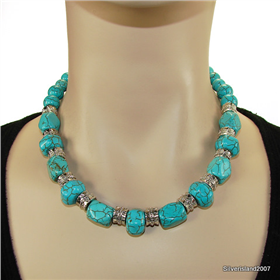 African Turquoise Fashion Jewellery Necklace 18 inches long