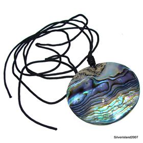 Unusual Rainbow Abalone Pendant