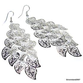 Huge Spiral Maze Sterling Silver Earrings