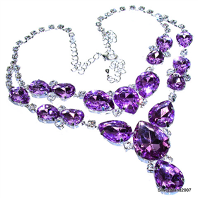 Eye-Catching Massive Amethyst Fashion Jewellery Necklace 17 inches long