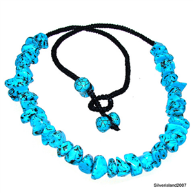 African Turquoise Fashion Jewellery Necklace 19 inches long