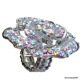 Huge Madagascar Fire Quartz Fashion Jewellery Ring size free