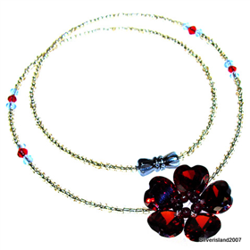 Summer Garnet Fashion Jewellery Necklace 16 inches