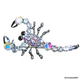 Madagascar Fire Quartz Fashion Jewellery Brooch