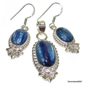 Heavenly Blue Kyanite Sterling Silver Set
