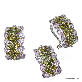 Spring Peridot Sterling Silver Set