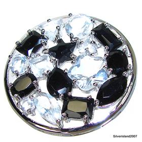 Circle Black Onyx Sterling Silver Pendant Jewellery