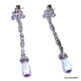 Amethyst Sterling Silver Earrings Jewellery