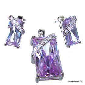 Heavenly Amethyst Sterling Silver Set