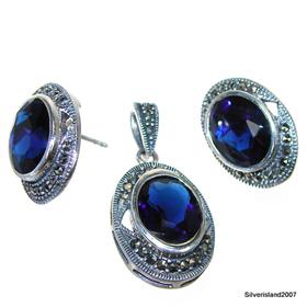 Heavenly Blue Topaz Sterling Silver Set