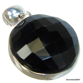 Gorgeous Black Onyx Sterling Silver Pendant