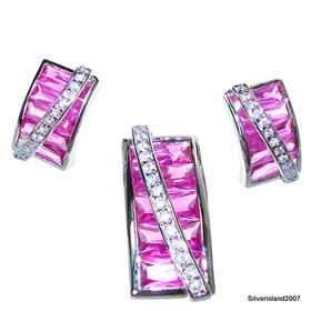 Artisan Stunning Ruby Quartz Sterling Silver Set