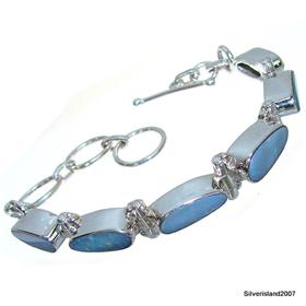 Rare Fire Opal Sterling Silver Bracelet