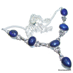 Lapis Lazuli Sterling Silver Necklace Jewellery 18 inches long