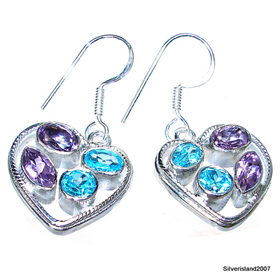 Royal Amethyst Sterling Silver Earrings