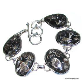 Exclusive Turitella Fossil Sterling Silver Bracelet