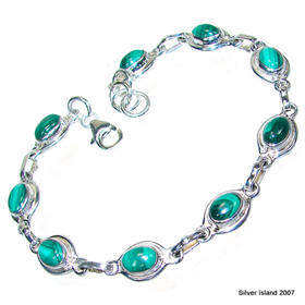 Incredible Malachite Sterling Silver Bracelet