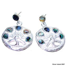 Rainbow Abalone Sterling Silver Gemstone Earrings