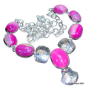 Botswana Agate Sterling Silver Necklace 18 inches long