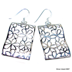 Large Paris Ave Sterling Silver Earrings