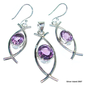 Heavenly Amethyst Sterling Silver Set