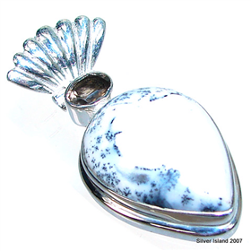 Dendric Agate Sterling Silver Pendant