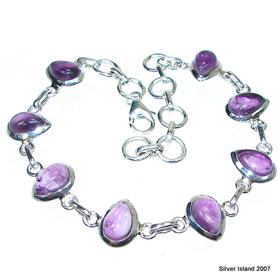 Incredible Design! Amethyst Sterling Silver Bracelet